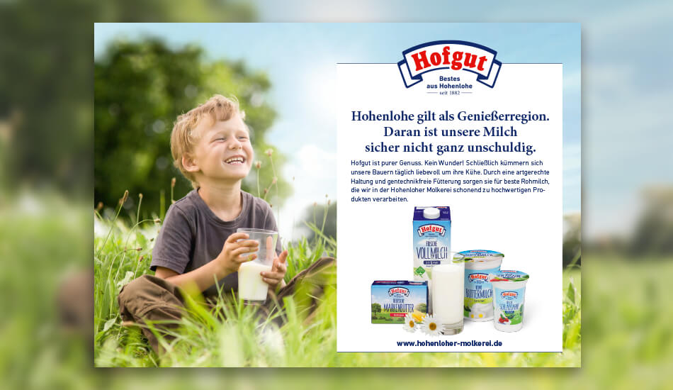 Kampagnenmotiv am Hofgut-Markt