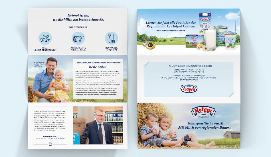 Endkundenflyer zur Kampagne für die Marke Hofgut