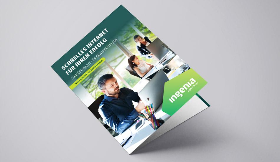 ingenia Broschüre für Gewerbekunden